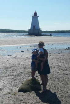 Sandy Point Lighthouse in nearby Shelburne