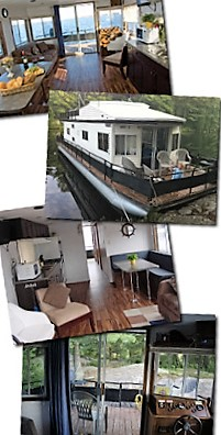 Inside a 12 sleeper. Photo from hapydayshouseboats.com
