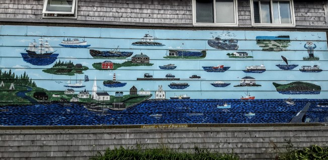 Beautiful mural on the side of the General Store