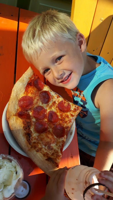 Pizza as big as your head